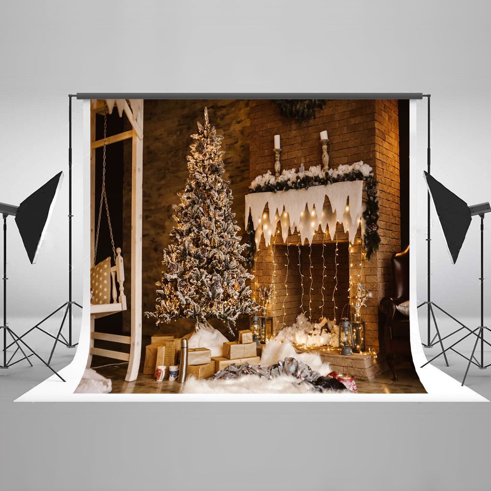 Kate 10X10FT Christmas Photography Backdrops Indoor Photography Backgrounds For Photo Studio Tree Cotton Photo Backdrop
