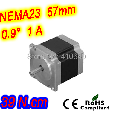 ФОТО 6 pieces per lot  high resolution step motor 23HM16-1006S  L 41 mm Nema23 with 0.9 deg  1 A  39 N.cm and  unipolar 6 lead wires