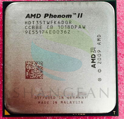 AMD Phenom X6 1035T X6-1035T 2.6GHz Six-Core CPU Processor  HDT35TWFK6DGR 95W Socket AM3 938pin wavelets processor