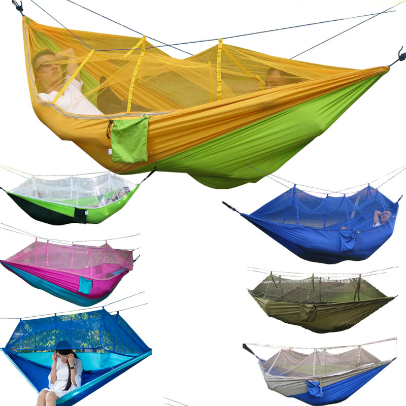 Mosquito net Hammock Parachute cloth Thin breathable camping Air tent Swing thicken canvas single camping hammock outdoors durable breathable 280x80cm hammocks like parachute for traveling bushwalking