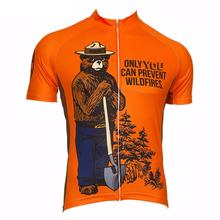 2017 Hot Men Cycling Jersey Smokey bear Team Road Bicycle Clothing Bike Wear Clothes Ropa Ciclismo Short Sleeve Maillot Ciclismo