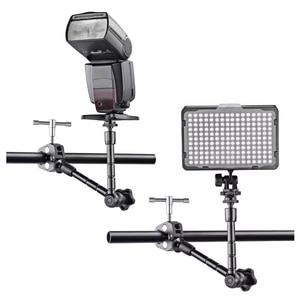 Image 4 - Регулируемый фрикционный шарнирный кронштейн 11 дюймов + Супер Зажим для SLR ЖК монитора, светодиодный светильник, аксессуары для камеры