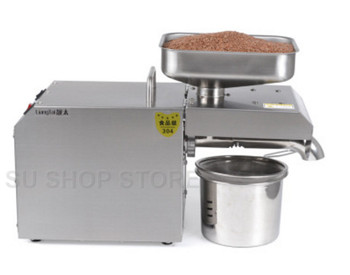 Stainless Steel Mini Oil Press Machine For Seed, Nut Peanut, Commercial Grade Oil Extraction Expeller Presser sg30 1 edible peanut oil press machine high oil extraction rate labor saving stainless steel oil presser for household