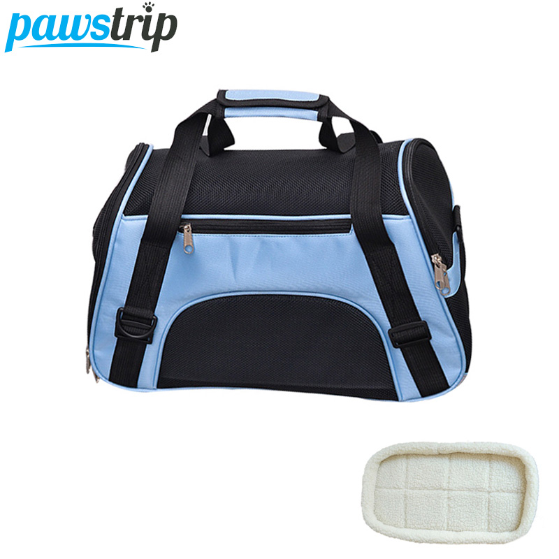 Pawstrip 4 Colors Pet Cat Carrier Bag Mesh Breathable Dog Carrier Small Dog Bag Puppy Travel Bag Pet Carrier Bag For Dog Cats