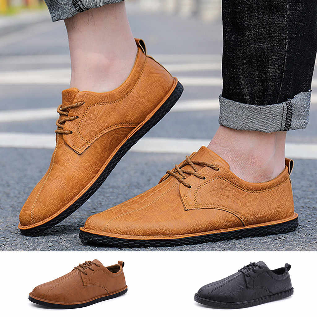 Fashion Men's Lace Up Loafers Casual Business Leather Shoes casual shoes men sneakers sport shoes men 2018