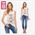 RCC HI-Q Cotton 2016 Summer Female Sleeveless elephant totem T-shirt Ladys Vest Shirts Womens Tops Tee