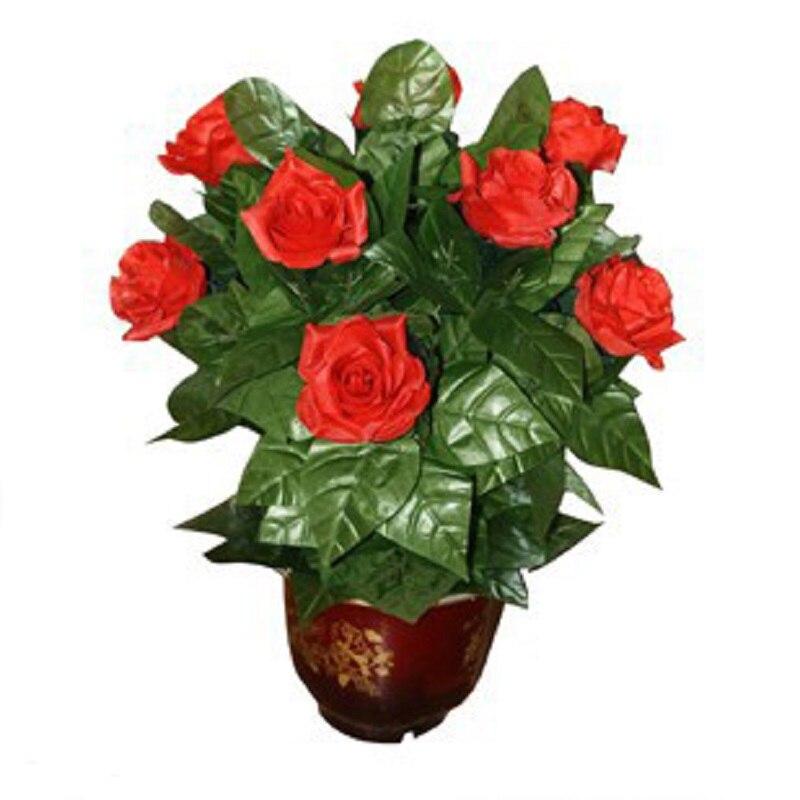Télécommande Rose Bloom en pot 10 fleurs ouvertes accessoires magiques automatiques