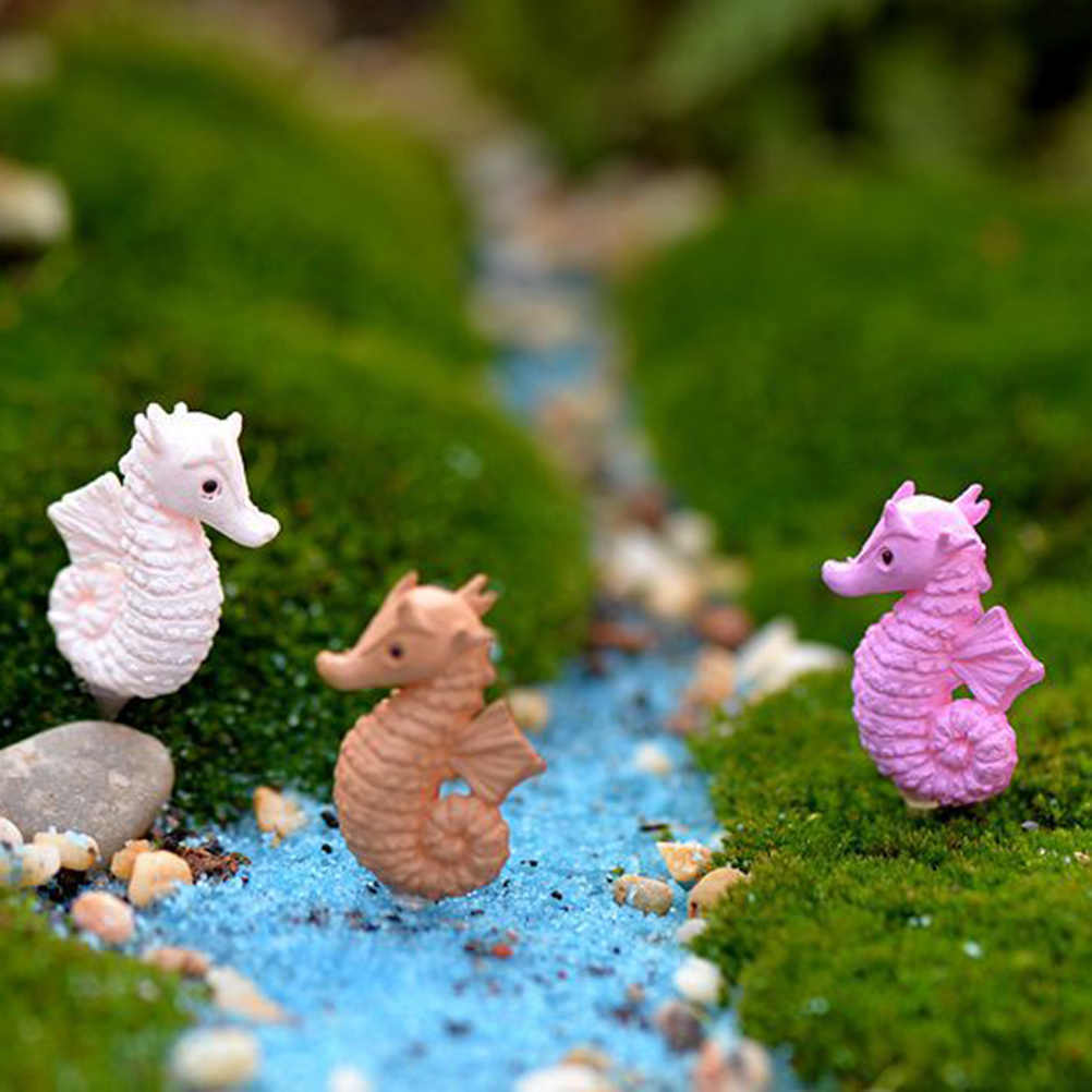 kawaii DIY Hippocampus Sea Animal Miniature Fairy Mini Craft Micro Landscaping Decor Garden Home Houses Decoration