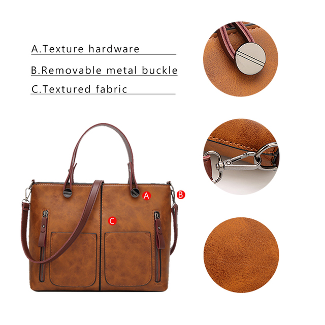 Tinkin Vintage   Shoulder Bag Female Causal Totes for Daily Shopping  4