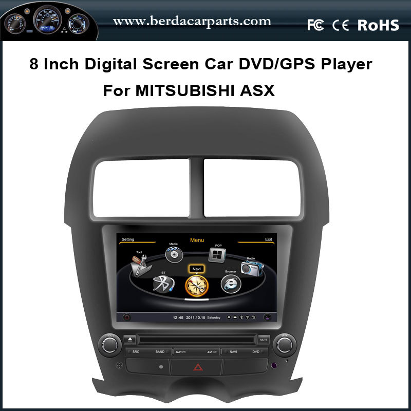 Car Audio For Mitsubishi ASX 2011 With GPS Navigation A8 Chipset 3 Zone POP Bluetooth Radio Playing