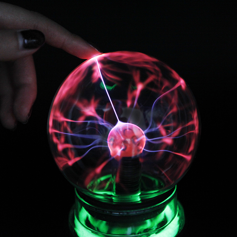 3 4 5 6 inch Novelty Plasma Ball Sphere Light Magic Luminaria Night Light Kid Gifts Christmas Decorative Lamp Indoor Lighting