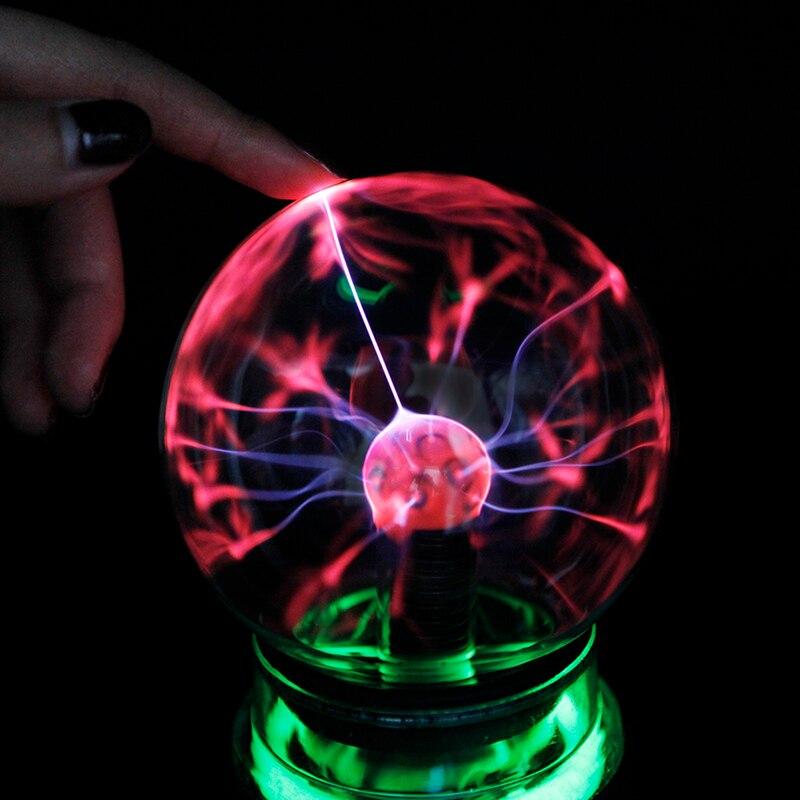 3 4 5 6 zoll Neuheit Plasma Ball Kugel Licht Magie Luminaria Nachtlicht Kid Geschenke Weihnachten Dekorative Lampe Innen beleuchtung