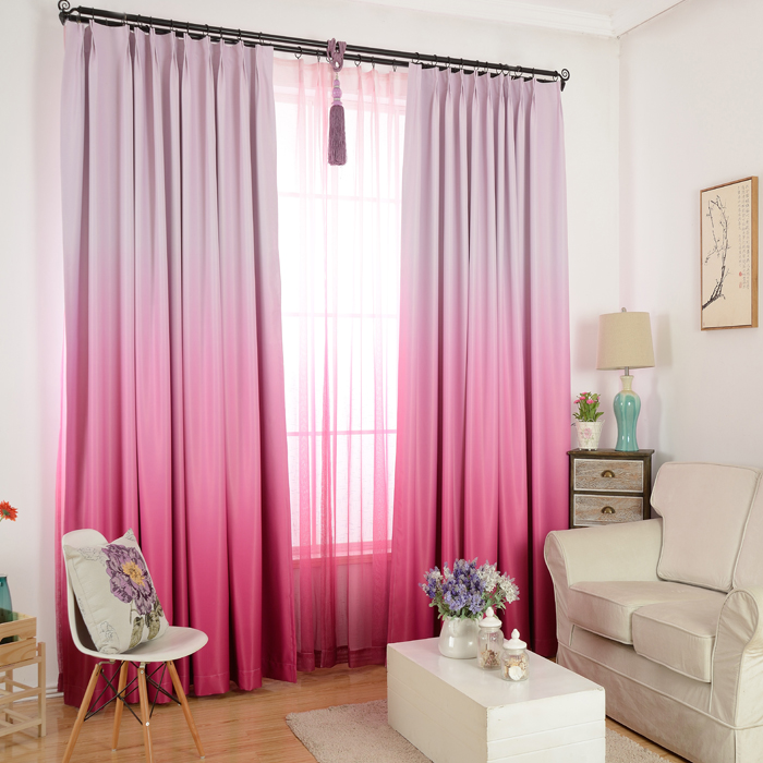 high grade solid color graceful modern curtains for living