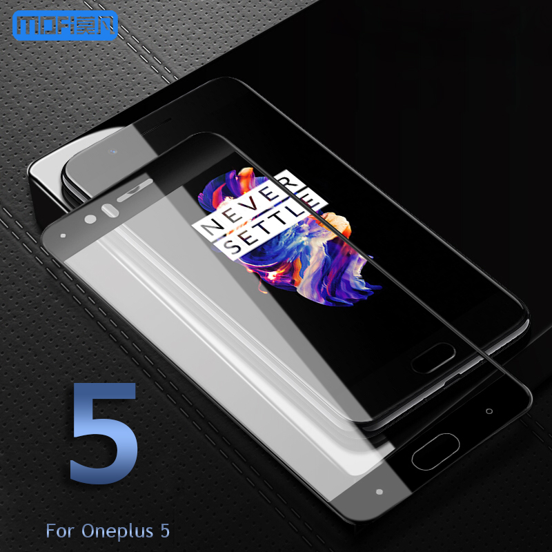 Oneplus 5 glass tempered one plus 5 screen protector film full cover protective MOFi oneplus5 transparent glass ultra thin A5000