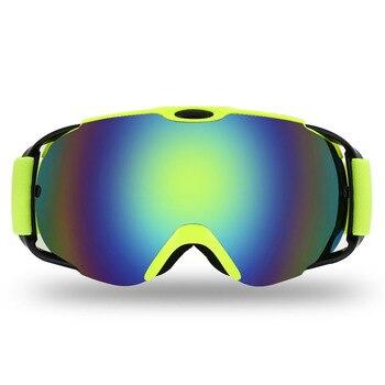 742c8c3e48 Nuevas gafas de esquí para adultos deportes de nieve de invierno gafas de Snowboard  Anti-niebla esféricas de doble lente hombres mujeres Snowmobile esquí ...