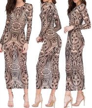 Cool perspective tattoo dress / main figure models are male does not affect this is women!