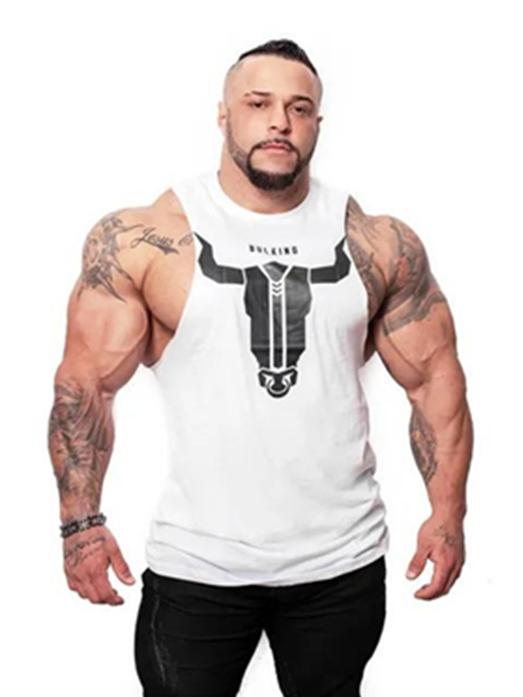 YEMEKE 2019 New design Men Gyms Sleeveless bodybuilding   Tank     Tops   Men's Summer gyms Fitness Casual O-neck Men   Tank     Tops   3XL