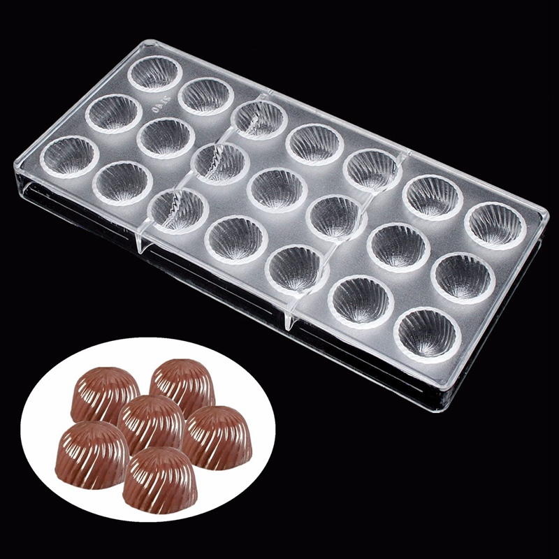 Clear Hard Screw Thread Sunflower Shaped Chocolate Molds Polycarbonate Candy Chocolate Cookies Jelly Pudding Moulds DIY
