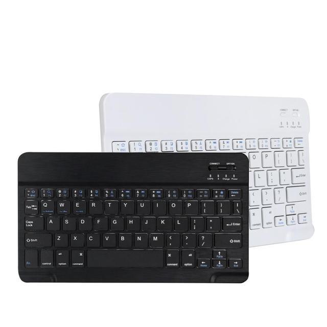 High quality  Aluminum Ultra Slim Wireless Bluetooth Keyboard For iPad Mac PC Macbook drop shipping apr4