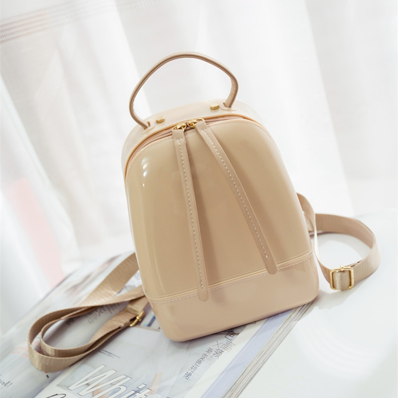 2016 Summer Fashion Furly Candy Backpack High Quality PVC Transparent Jelly Beach Bags Luxury Backpack Women Bags Designer