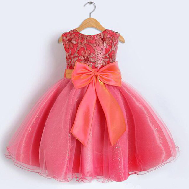 Baby Girls Party Dresses Kids Dresses for girls party princess Gown Flower Girls  Dresses For Party 7e72bba7a6bc