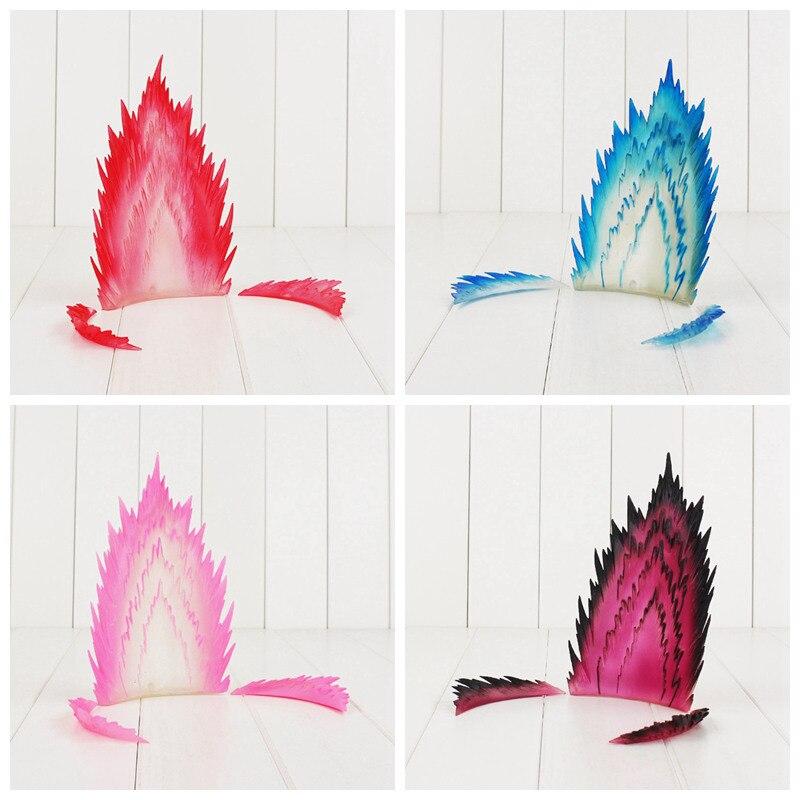 5 arten 19 cm Aura Figur Goku Super Saiyan Wirkung Energie Aura Dragon Ball Z Spielzeug Aura für Action-figuren