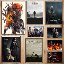The Witcher Game Coated paper poster Cafe Creative wallpaper Interior Decoration Free Shipping