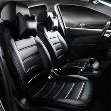 Cubierta de asiento de coche de cuero cuatro estaciones para Ford Focus Fiesta S-MAX Mondeo Tránsito Personalizado Explorer maverick KUGA Escape caravana E150