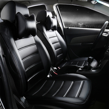 leather car seat cover four seasons for Ford Focus Mondeo Transit Custom Fiesta S-MAX Explorer maverick KUGA Escape caravan E150