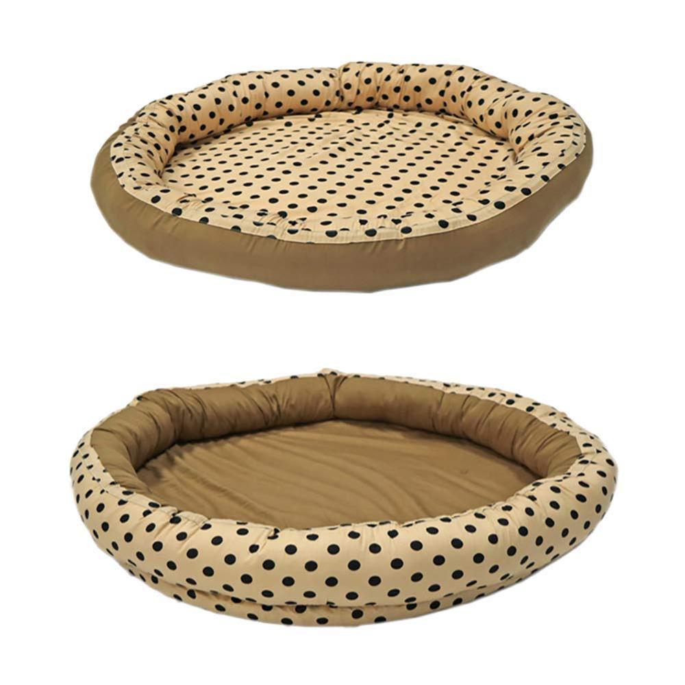 Разборный супер мягкий детский шезлонг, утолщенный детский коврик для ползания игровой коврик, переносные кроватки и колыбели, подушка круглое гнездо - Цвет: Coffee Dot
