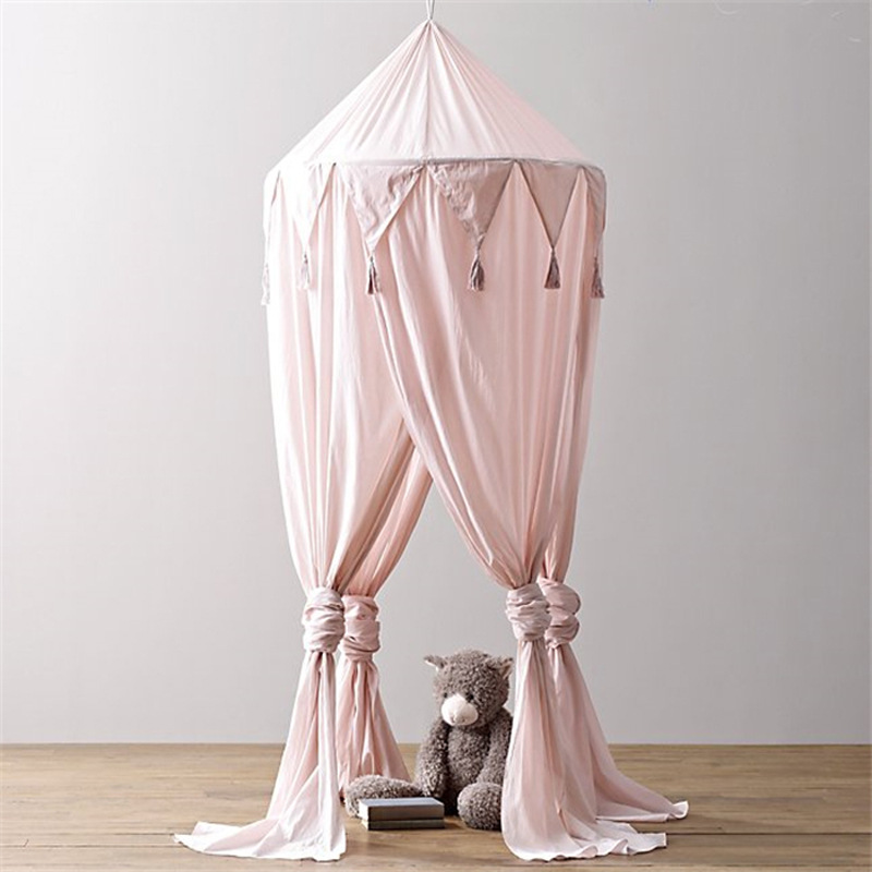 2019 Hot New Baby Canopy With Balls Childrens Indoor Tent 1.5m Bed Princess Canopy Tent Children Baby Bedroom Decoration B910 Baby Bedding
