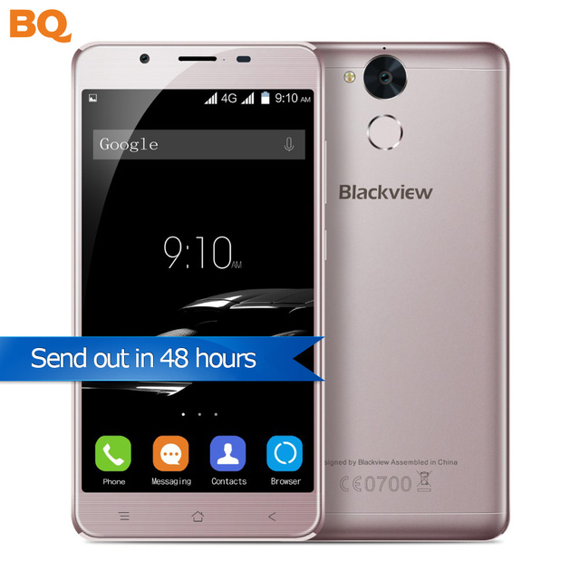 "Blackview P2 4GB RAM 64GB ROM Smartphone Octa Core 6000mAh 5.5"" FHD Android 6.0 13MP Fingerprint Telephones"