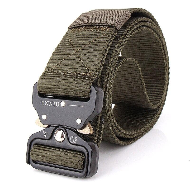 Men SWAT Military Equipment Knock Off Army Belt Men's Heavy Duty Combat Tactical Belts Sturdy Nylon Waistband 3.8 cm