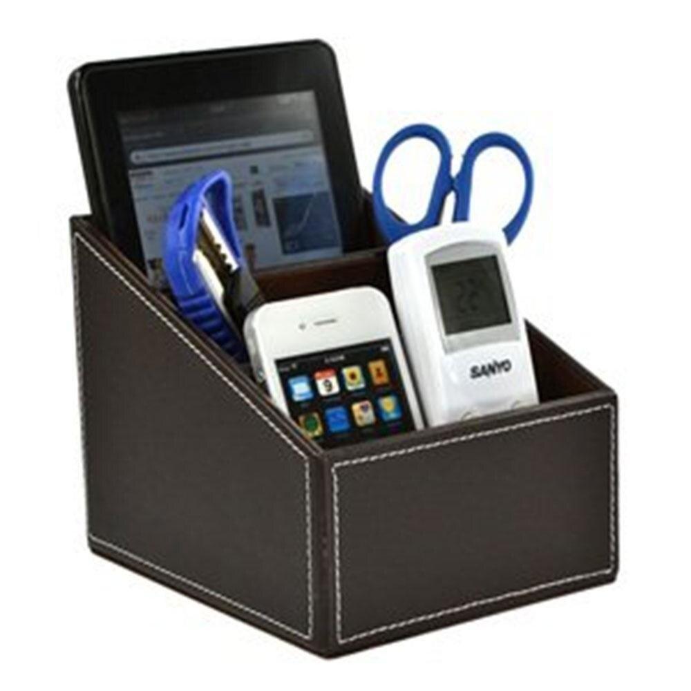 Storage Organizer Sundries Box Mjack TV Guide Holder Remote Controller Organizer Storage Box Desk Caddy