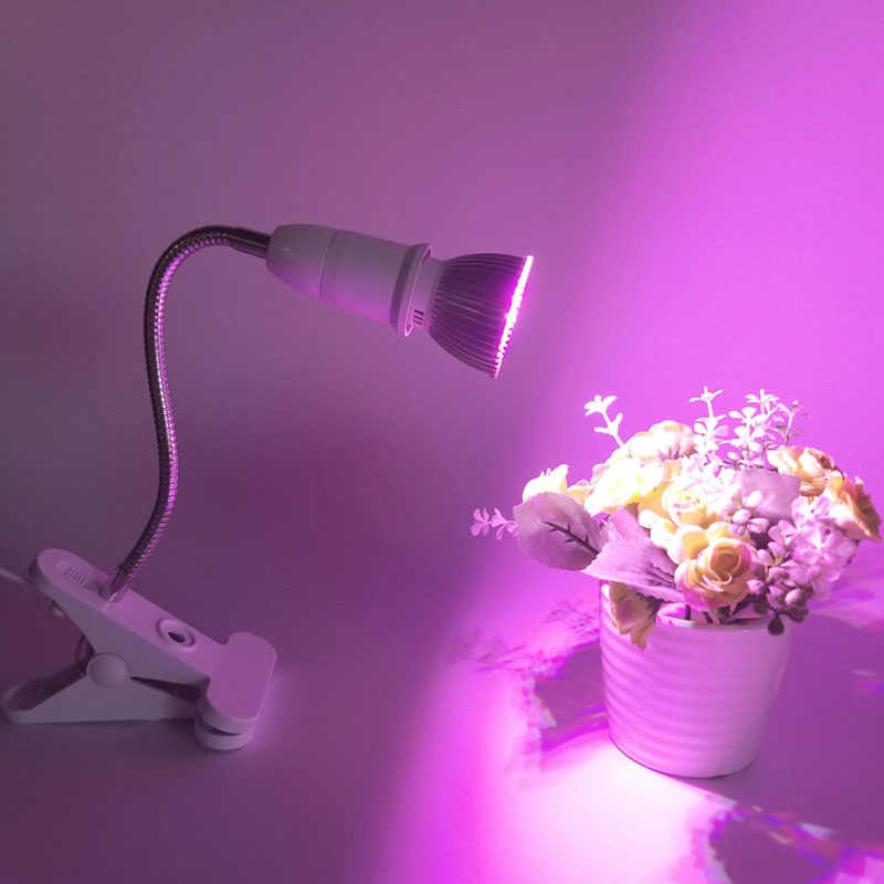 2019 E27 Lamp Bases 360 Degrees Clip Lamp Holder Plant Lights Animal Heating Lamp With A 20CM 40CM Hose EU/US Plug High Quality