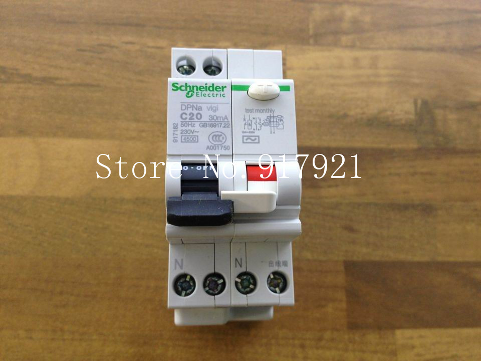 [ZOB] original DPNA C20 residual current circuit breaker leakage switch 2P20A GENUINE NEW --5pcs/lot [zob] muller moeller eaton l7 16 2 d breaker 2p16a d16a genuine original 5pcs lot