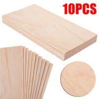 10pcs/Set 200*100*1.5mm Balsa Wood Sheets Wooden Plate for DIY House Ship Aircraft Boat Model Toys Craft