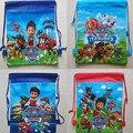 Hot Sale 1 Pcs Cartoon Non-woven Fabrics of Dog Patrol Bag Drawstring Backpack Gift Bag Paws Shopping Storage Bag