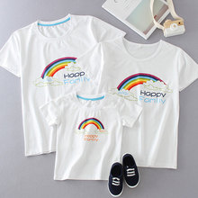 Matching Family Outfits Look Dad Mom Kid Fashion T-Shits Mommy and Me Clothes Mother Daughter Clothing Mom Mum Son Baby Girl basketball dad mom baby girl boy family matching outfits cotton t shirt father mother son daughter print letter mommy and me kid