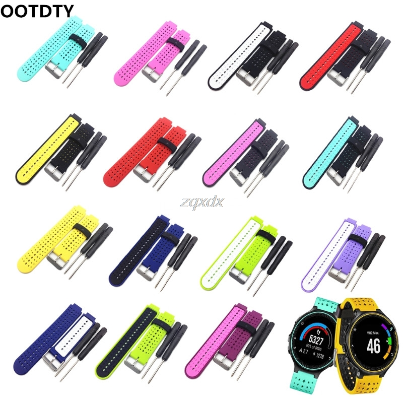 OOTDTY Silicone Watch Strap Band For Garmin Forerunner 220 230 235 620 630 Smart Watch Z15 Drop ship