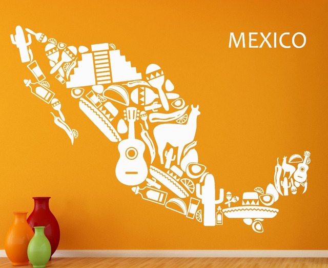Wall Stickers Vinyl Decal Mexico Mexican Latin America Cool Decor ...