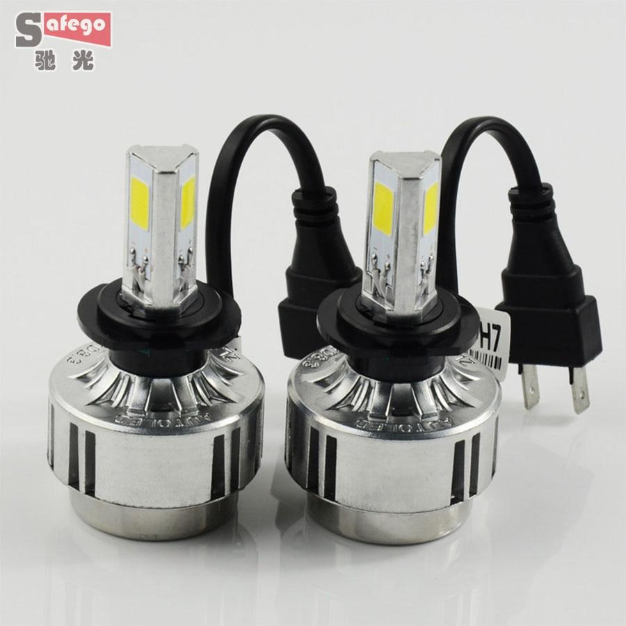 ФОТО LED H7 72W Car Headlight Lamp Fog Lamp 6600 LM Car h7 HeadLamps White 6000K FOR car lighting