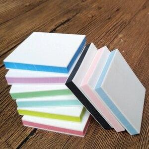 Image 3 - 5*5cm plac grawerowanie gumka znaczek dla majsterkowiczów 10 sztuk/partia kolorowe 3 warstwy dobrej jakości szkolne i biurowe