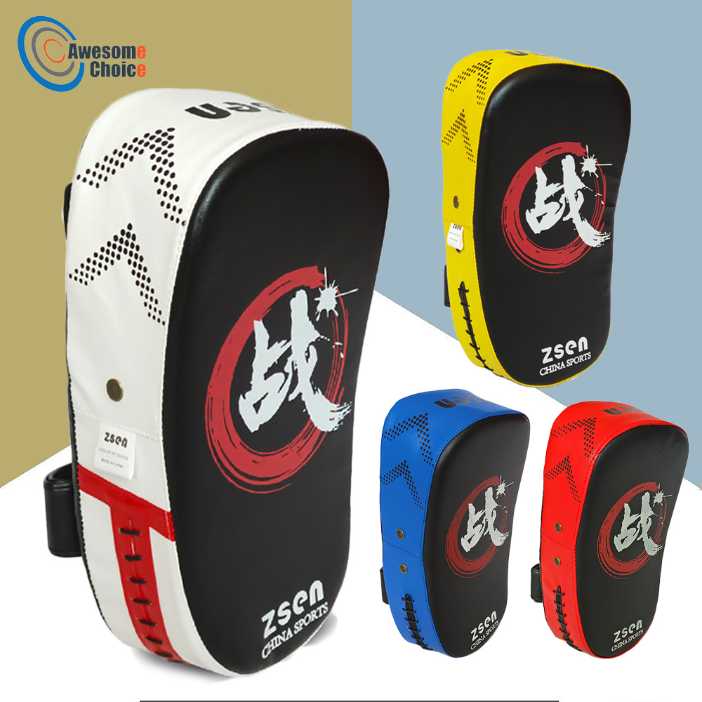 Quality Kick Boxing Pad Punching Bag Foot Target Mitt MMA Sparring Muay Thai Boxing Training Gear Punching 4 Colors