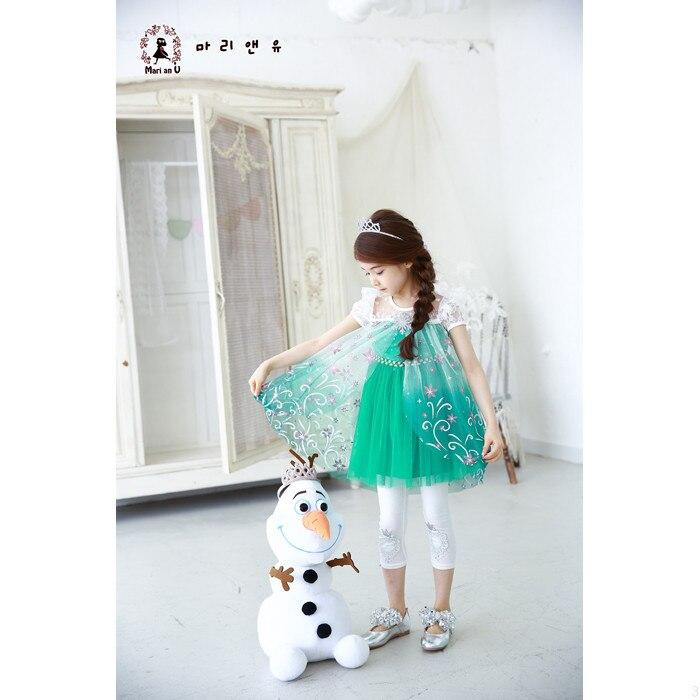 Vajzat Fustan 2019 Dantella Verore Temperatura Elsa Princesha Veshjet - Veshje për fëmijë - Foto 3