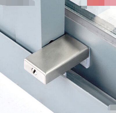 Freeshipping Aluminium window lock steel window lock pan child safety lock sliding doors and burglar