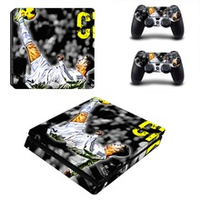 Juventus Cristiano Ronaldo PS4 Slim Skin Sticker Decal Vinyl for Playstation 4 Console and 2 Controllers PS4 Slim Skin Sticker