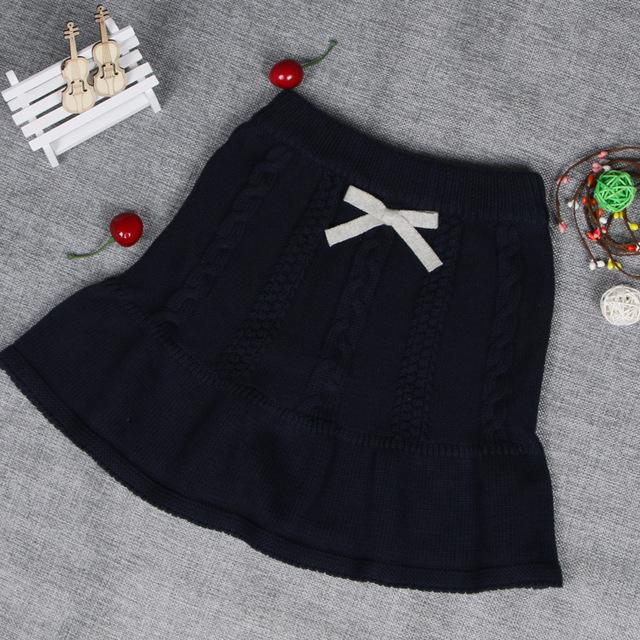 2016 Nueva Moda Niñas Niños Falda de Punto de Algodón Suéter de la Muchacha Falda Witner Otoño Falda Del Bebé Trajes Arropa El Envío Libre