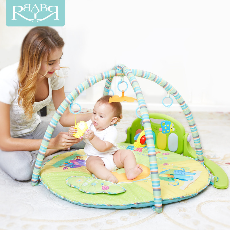 Babyruler Soft electric Baby Play Mat 0-18 Months Baby Toys Kids Blanket Carpet baby musical bouncer for Newborns Rug Goma sassy seat doorway jumper 5 toys with musical play mat