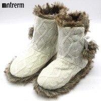 Novo Índice Mujer Sapatos Para Mulheres Chinelos Em Casa Bola de Pêlo de Inverno Linda Casa chinelos Quentes Interior de Pelúcia Chinelos Pantuflas